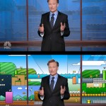 Did Conan O'Brien Steal his Tonight Show backdrop from…Mario?!