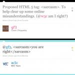 HTML 5 Sarcasm tag [pic]