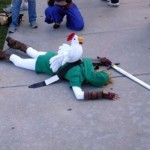 Legend of Zelda chicken defeats cosplay Link [pic]