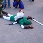 Legend of Zelda chicken defeats cosplay Link [pic]