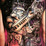 Stunning Star Wars full back tattoo [pic]