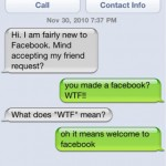Dad has joined Facebook?!  WTF!!  [funny pic]