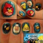 Angry Birds Fingernail Art [pic]