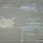 Pokemon battle sidewalk art [pic]