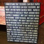In Rock, Paper, Scissors, Rock always wins [pic]