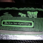 Oregon Trail birthday cake:  You have dysentery [pic]