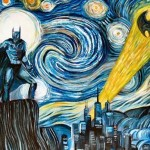 Batman invades Van Gogh's Starry Night painting [pic]
