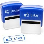 Facebook Like/Dislike Self-Inking Stamp Set [pic]