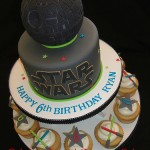 Epic Star Wars Death Star Birthday Cake and cupcakes [pic]