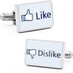 Facebook Like and Dislike Cufflinks [pic]
