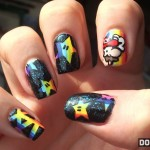 Mario Kart Rainbow Road Fingernails [pic]