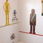 Star Wars Shower Mosaic [pic]