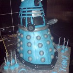 Blue Doctor Who Dalek Birthday Cake [pic]