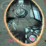 Epic Portal 2 Sidewalk Chalk Art [pic]