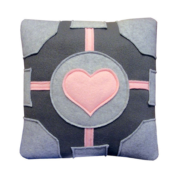 Portal Companion Cube Pillow