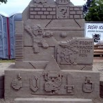 8-Bit NES Video Game Sand Sculpture [pic]