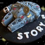 Cartoony Star Wars Millennium Falcon Cake [pic]