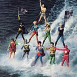 Vintage Water Skiing Superheroes in a Pyramid [pic]