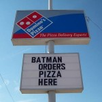 Batman Has Questionable Taste in Pizza [pic]