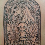 Stunning Legend of Zelda Windwaker Full Back Tattoo [pic]