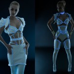 This Glow in the Dark TRON Dress is Sexy! [pic]
