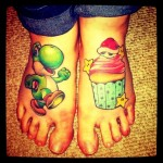 Super Mario Bros Yoshi Foot Tattoos [pic]