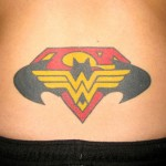 Multiple Superhero Tramp Stamp Tattoo [pic]