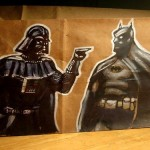 Darth Vader vs Batman Lunch Bag Art [pic]