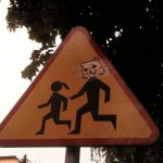 Pedobear Crosswalk Sign [pic]