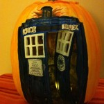 Doctor Who TARDIS Pumpkin Carving [pic]