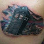 Awesome Doctor Who TARDIS and Dalek Tattoo [pic]