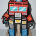 Transforming Optimus Prime Made With Plastic Canvas [pics]
