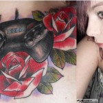 Sega Genesis Controller Chest Tattoo [pic]