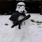 Stormtrooper Snow Sculpture [pic]