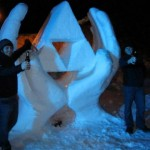 Massive Triforce Snow Sculpture [pic]