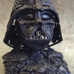 Darth Vader Bust Sculpted from Scrap Metal [pic]