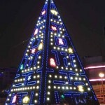 Giant Pac-Man Christmas Tree [pic]