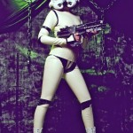 Sexy Latex Stormtrooper Cosplay [pic]