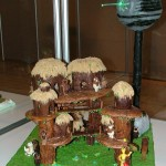 Gingerbread Ewok Village and Death Star [pic]