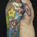 Super Mario Half Sleeve Tattoo [pics]