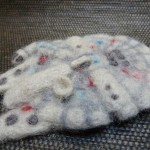 Wool Felted Star Wars Millennium Falcon [pic]
