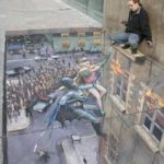 Amazing Batman and Robin Sidewalk Art [pic]