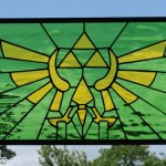 Legend of Zelda Hylian Crest Stained Glass [pic]