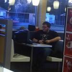 Video Game Addict Invades McDonalds [pic]