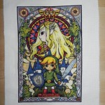 Legend of Zelda Stained Glass Cross Stitch [pic + video]