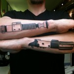 Dual Wielding Lightsaber Tattoos [pic]
