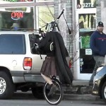 Darth Vader Playing the Bagpipes on a Unicycle [pic + video]