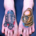 R2-D2 and C-3PO Feet Tattoos [pic]