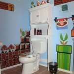Amazing Mario, Donkey Kong and Pac-Man Bathroom [pics]