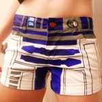 Hand-Painted R2-D2 Shorts [pics]